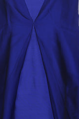 Blue silk knee length dress