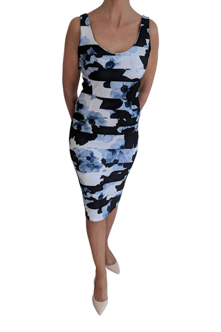 Bodycon Dress, Blue Ripple