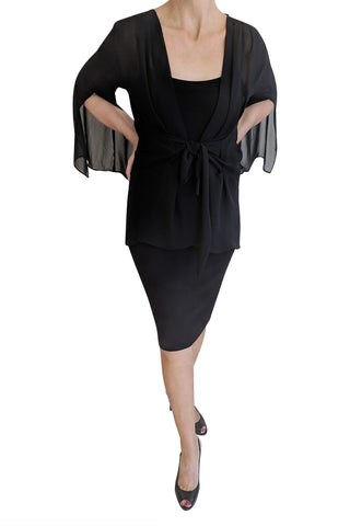 Flutter Jacket, Black