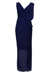 Long cowl neck maxi dress