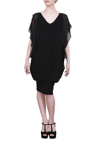 Janine Dress, Black Bella