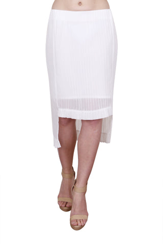 Stride Skirt, White Pleat