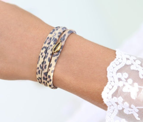 Leopard Wrap Hair Tie Choker & Ankle Band