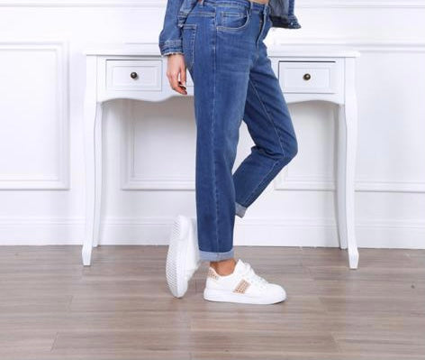 Boyfriend Cropped Jeans (Dark)