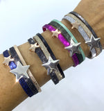 Navy/Charcoal Sparkle Star Cuff