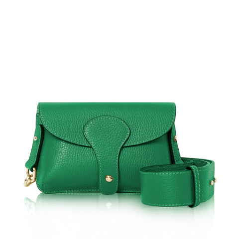 Apple Green Mini Leather Crossbody Bag
