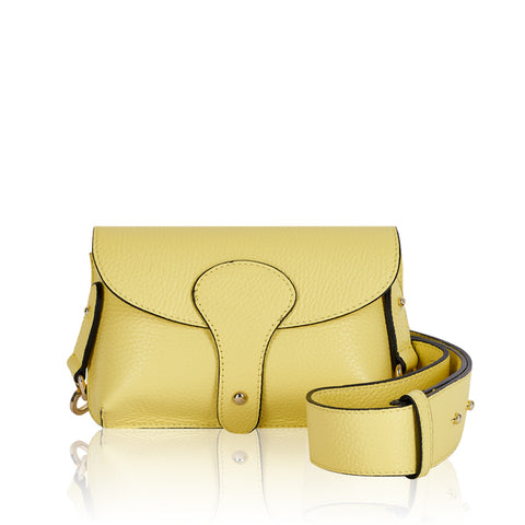 Lemon Mini Leather Cross Body Bag