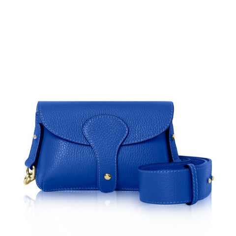 Cobalt Mini Leather Cross Body Bag