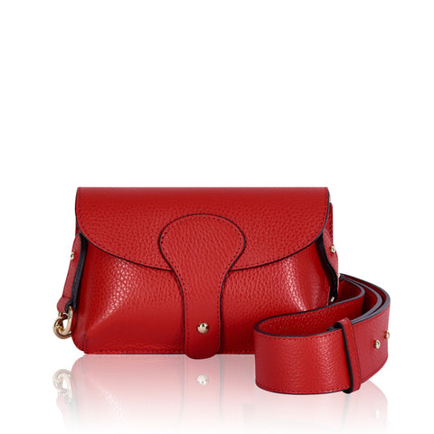 Red Mini Leather cross Body Bag