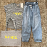 Happy Organic Tote Bag