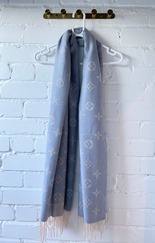 Grey/Blue Soft Scarf
