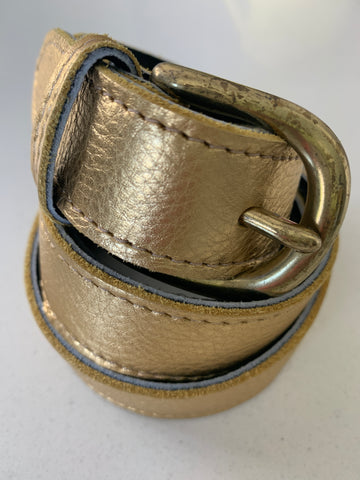 Gold Handmade Leather Belt