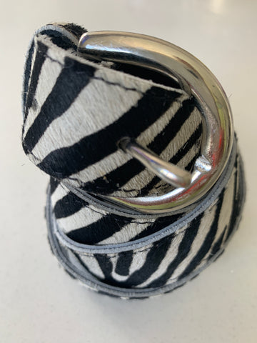 Zebra Handmade Leather Belt