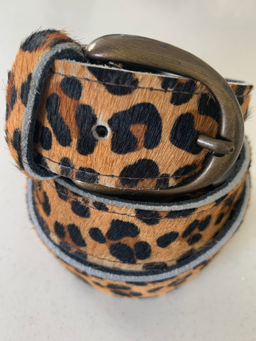 Leopard Handmade Leather Belt