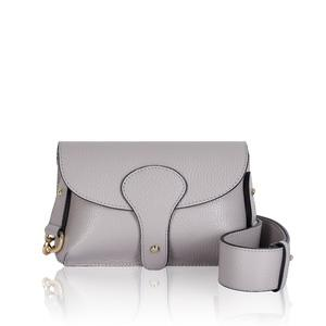 Light Grey Mini Leather Cross Body Bag