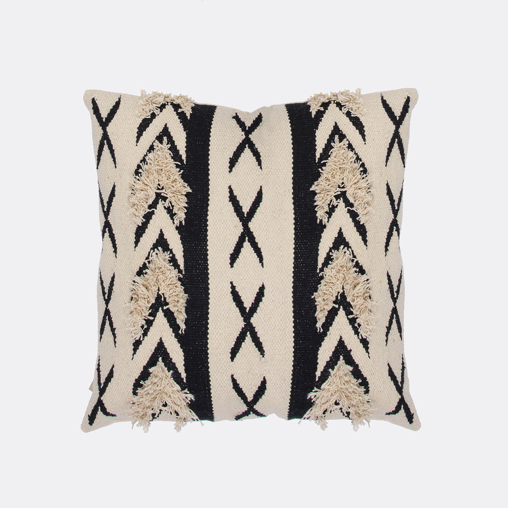 Cotton Cushion black and white