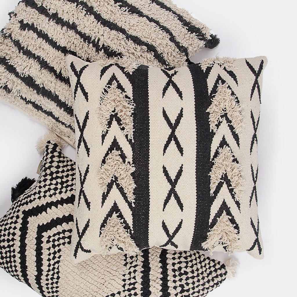 black and white cushion cotton