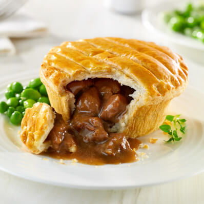 2x Frozen Unbaked Steak & Kidney Wrights Pies