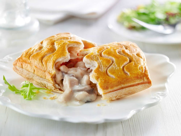 2x Frozen Unbaked Chicken & Mushroom Wrights Slice