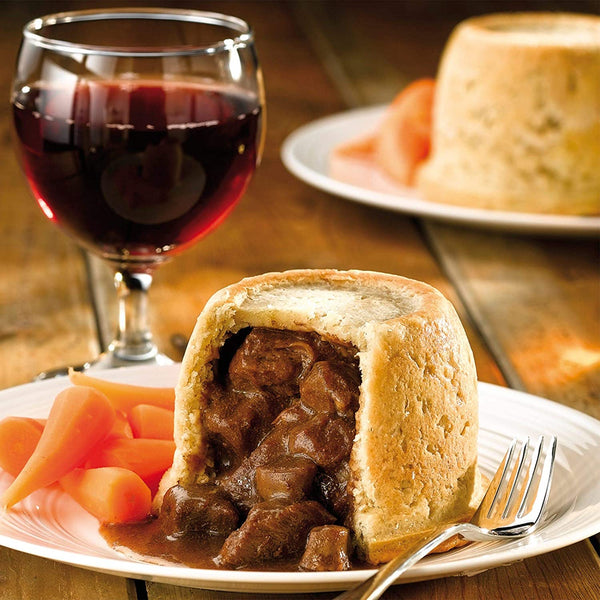 4x Frozen Baked Steak & Kidney Wrights Puddings