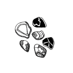 Drawing of polished/tumbled stones