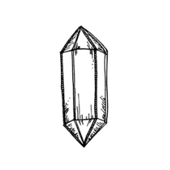Drawing of Double Terminated Crystal
