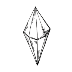 Drawing of a Octahedron Crystal