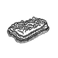 Drawing of a Geode Crystal