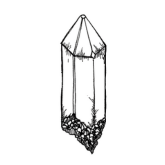Drawing of a Generator crystal