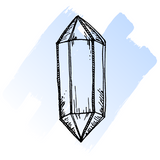 hand drawn angelite crystal