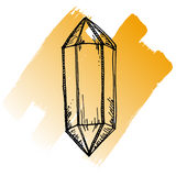 Hand sketch of citrine crystal