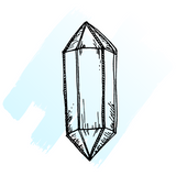 hand drawn image of moonstone crystal