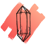 hand drawn image of sunstone crystal