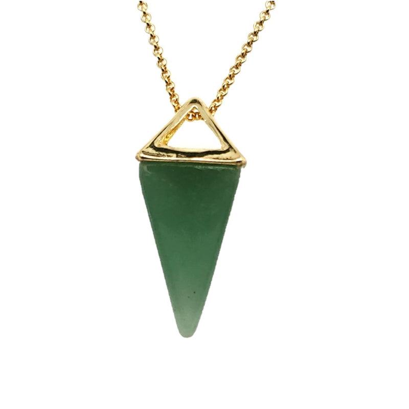 Aventurine Pyramid Necklace in Yellow