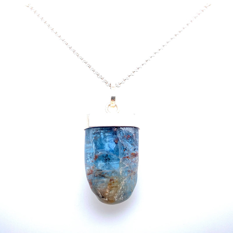 Kyanite Necklace in Silver