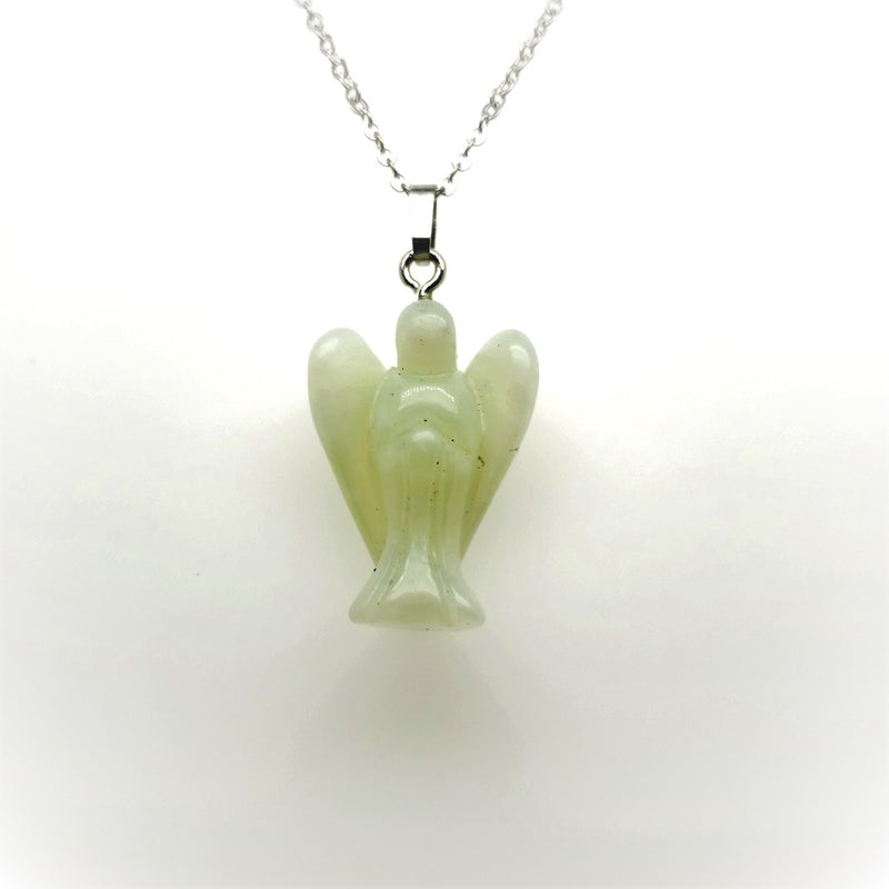 Angel Shaped Necklace in Silver