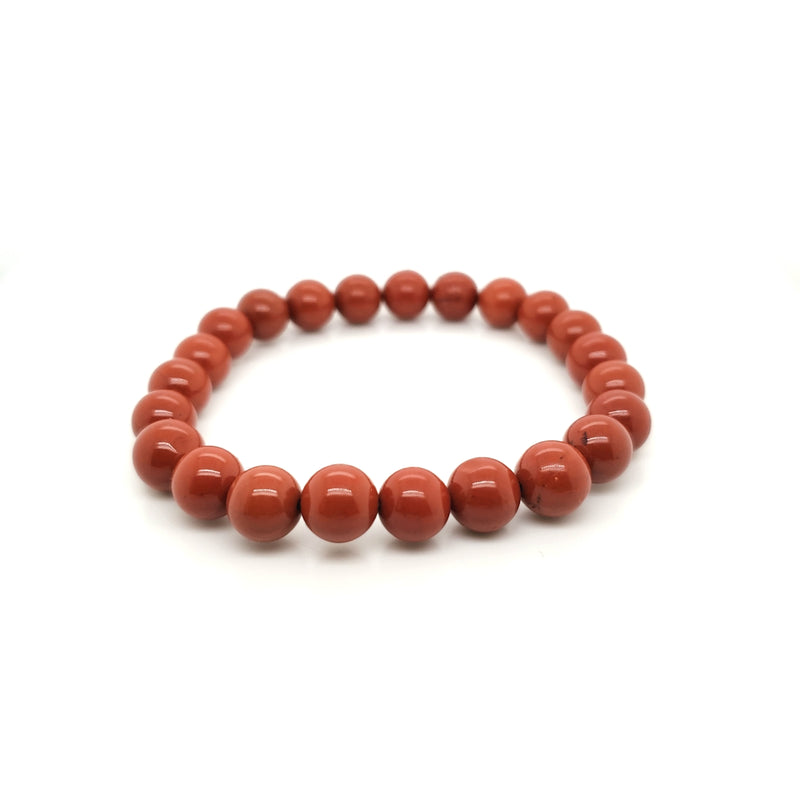 Red Jasper Stretch Bracelet Medium