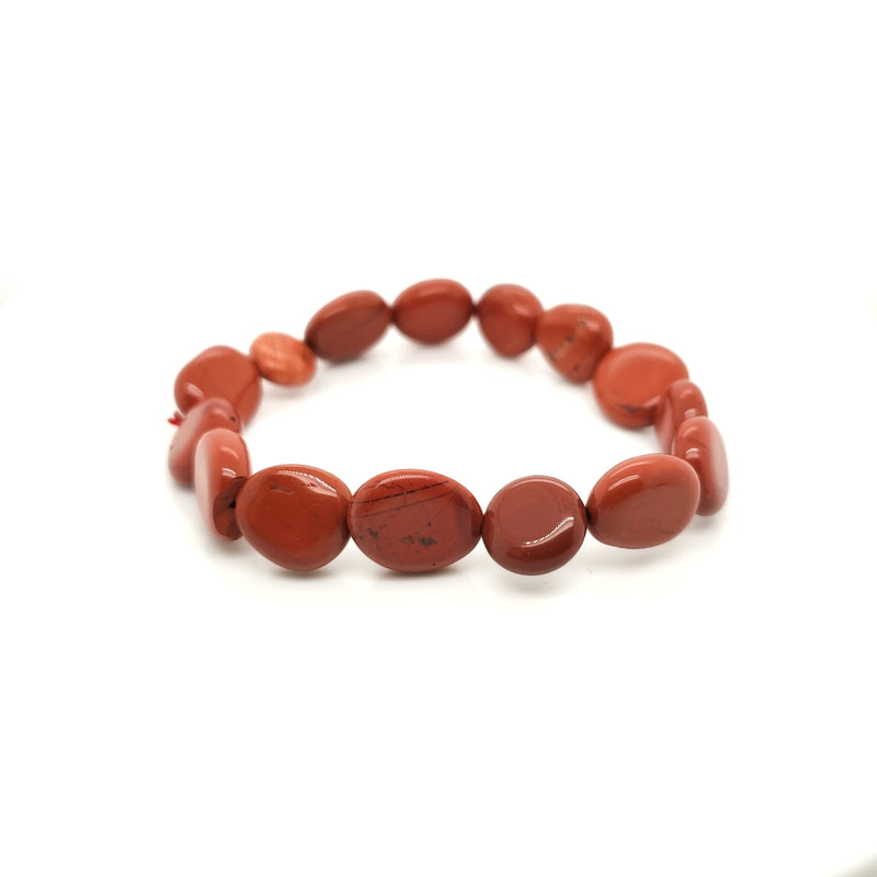 Red Jasper Oblong Stretch Bracelet Medium