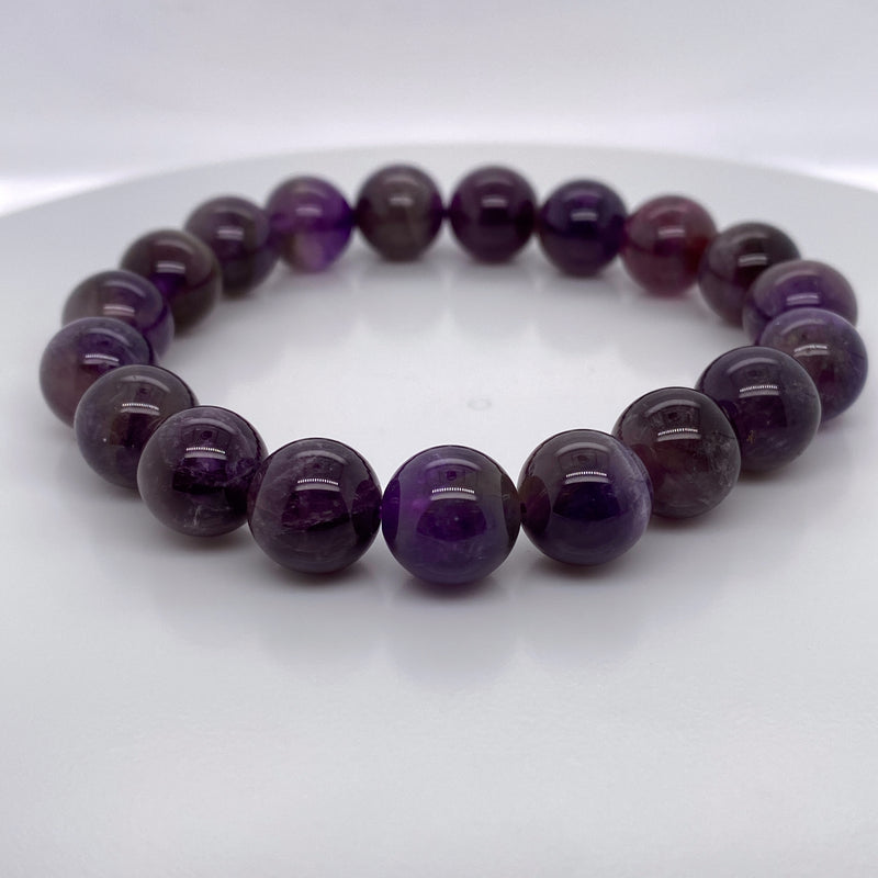 Amethyst Stretch Bracelet Large
