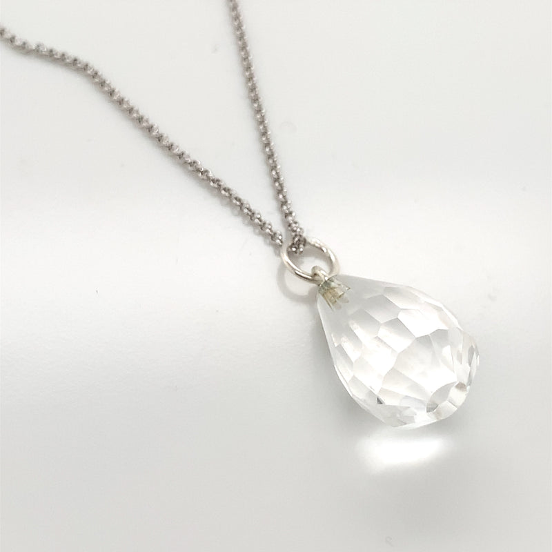 Crystal Drop Necklace 36""
