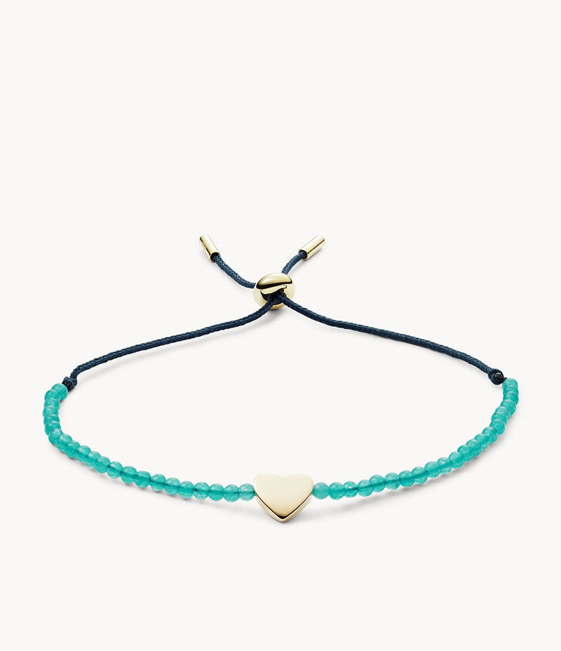 Green Jade Slider Heart Bracelet