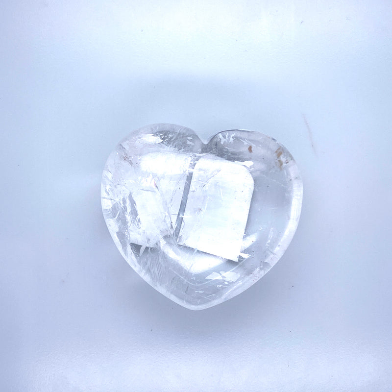Crystal Quartz Heart 1-2""