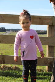 Merino Top - Heart Balloon Print - MT85