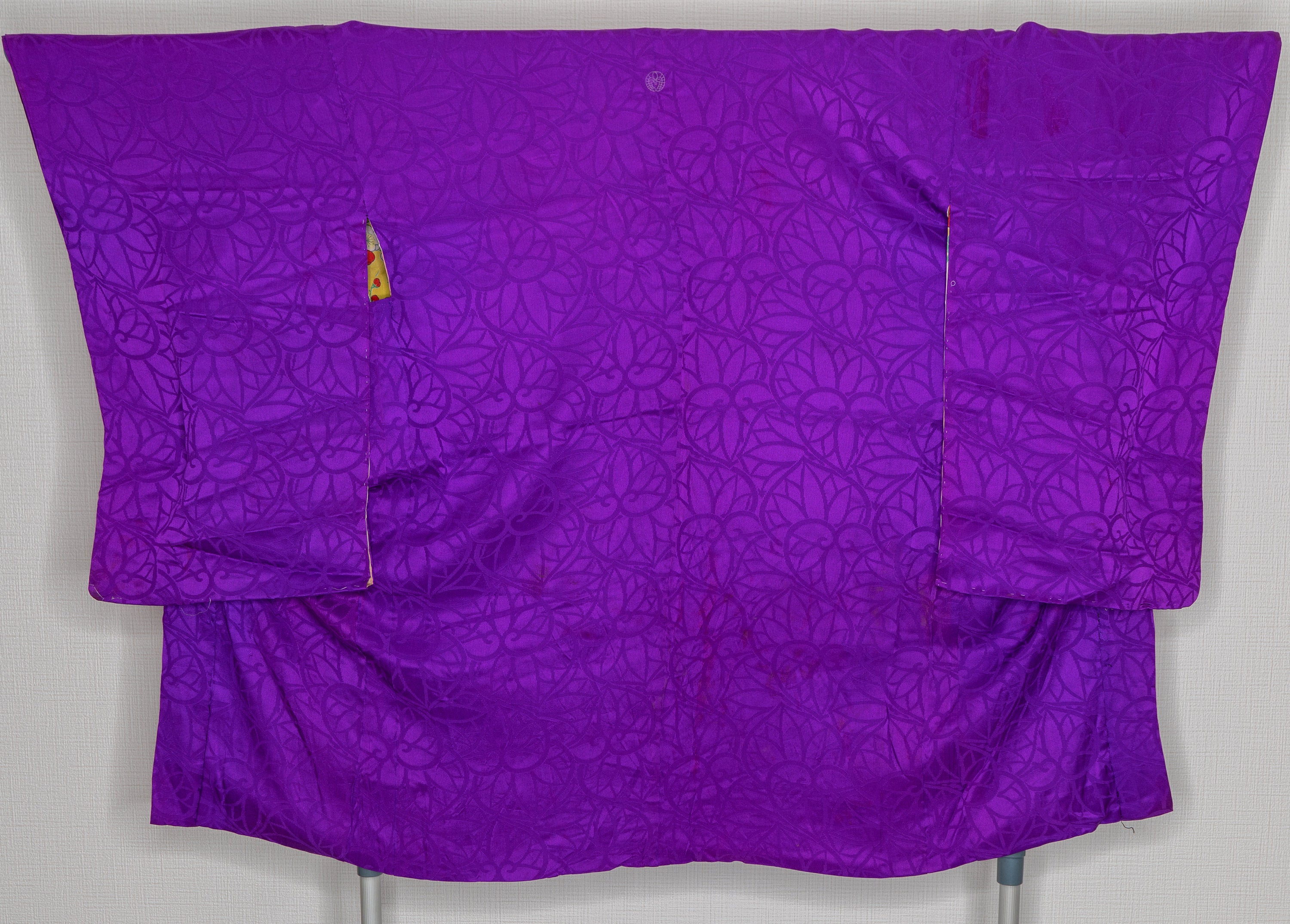 Vintage 1950s Haori - High Quality Silk - Purple with Flower Patterns