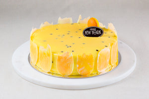Mango Passion Fruit & Coconut Cake