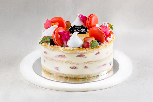 Strawberry Coconut Mascarpone Cake