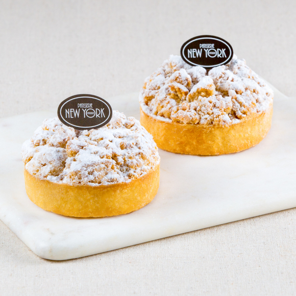 Individual Rhubarb & Apple Crumble Tarts Box of 6