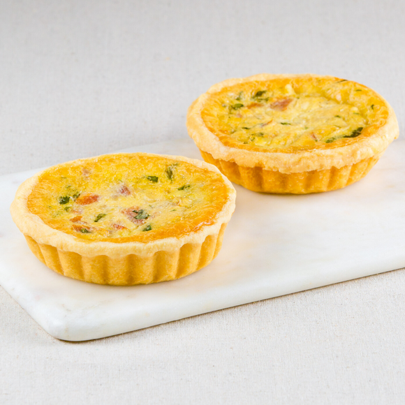 Honey Glazed Bacon Quiches Box of 4