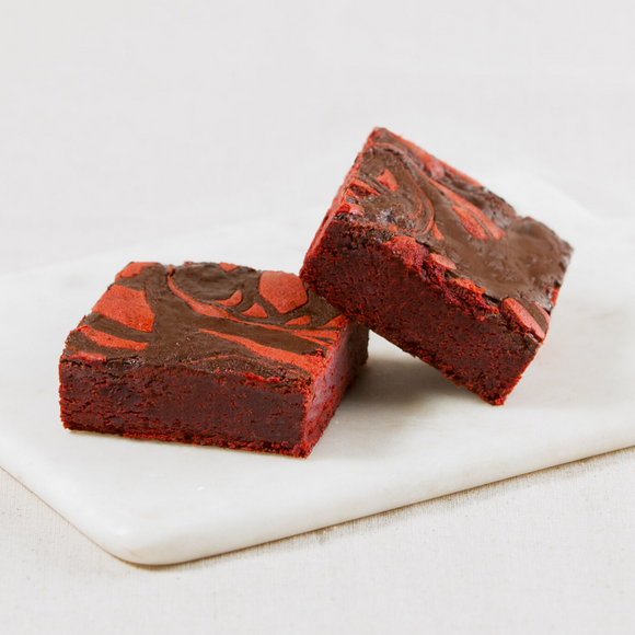 Red Velvet Brownie Slices Box of 6