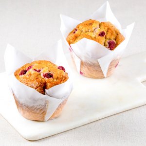 Raspberry & White Chocolate Chip Muffins Box of 6